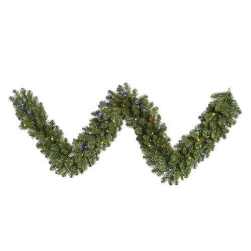 "Vickerman 9' x 18"" Prelit LED Grand Teton Artificial Christmas Garland - Multi Lights"