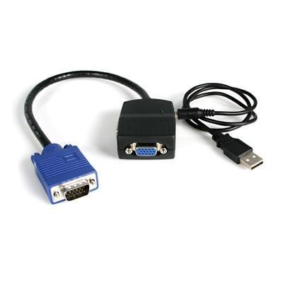 StarTech.com ST122LE 2 Port VGA Video Splitter Cable - USB Powered