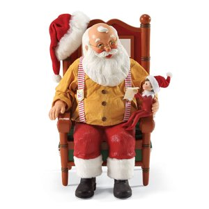 Dept 56 Possible Dreams Elf On Shelf Updating St Nick Santa Claus  4039634