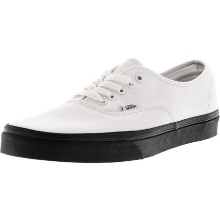 bc0c27c68f Vans - Vans Men s Authentic Black Outsole True White Ankle-High Canvas  Skateboarding Shoe - 11M - Walmart.com