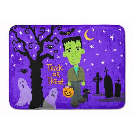 Halloween Frankie Frankenstein Machine Washable Memory Foam Mat VHA3021RUG