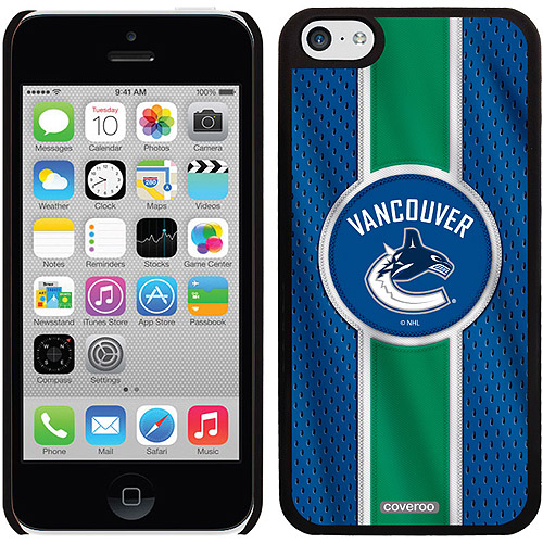Vancouver Canucks Jersey Stripe Design on iPhone 5c Thinshield Snap-On Case by Coveroo