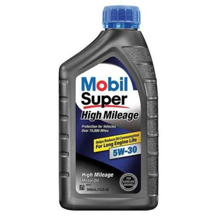 MOBIL 112906 Mobil Super High Mileage, 5W-30, Conventional, 1 (Best Conventional Oil For High Mileage)