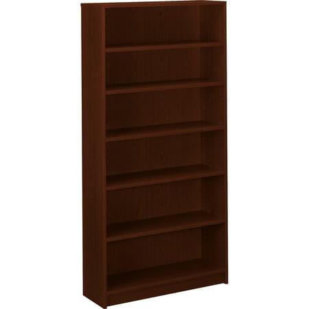 "HON, HON1876N, 1870 Series 6-Shelf Bookcase, 36""W, 1 Each, Mahogany"