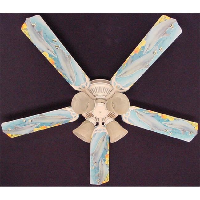 Ceiling Fan Designers 52FAN-ANI-PDD New Playful DOLPHINS DOLPHIN Ceiling Fan 52''