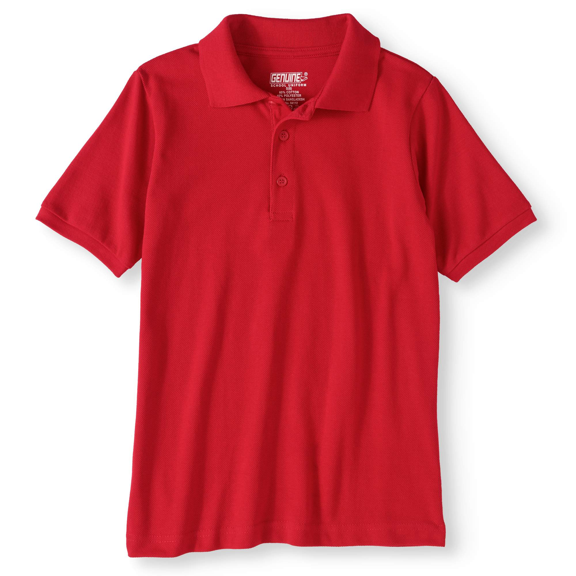 Genuine Uniform Boys' Short Sleeve Polo