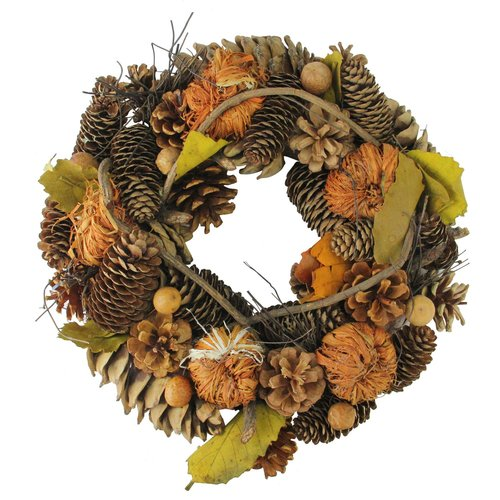 The Holiday Aisle Autumn Harvest Artificial Thanksgiving 13'' Pine Wreath