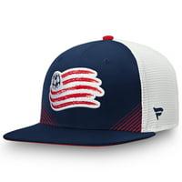 New England Revolution Fanatics Branded Iconic Adjustable Snapback Hat - Navy/White - OSFA