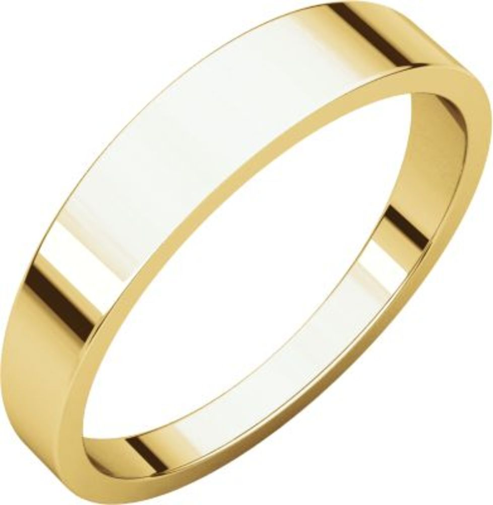 4mm Flat Tapered Band in 18k Yellow Gold - Size 8