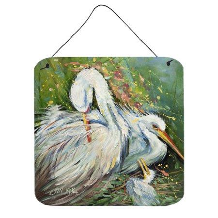 Rain Wall Hanging - White Egret in the rain Wall or Door Hanging Prints JMK1210DS66