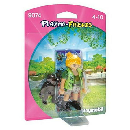 Playmo - Zoo Keeper with Baby Gorilla - Playset by Playmobil (9074)