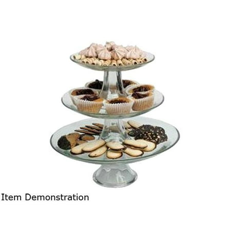 Plastic Tiered Cake Stand (Anchor Hocking Presence Glass 3 Tier Cake Stand)