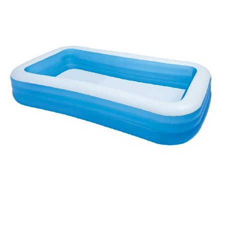 Intex giant inflatable kiddie pool family and kids inflatable rectangular pool 10 feet long for Intex inflatable rectangular swimming pool