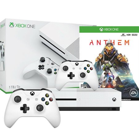 Xbox One S 1TB Anthem Console Bundle with Extra Controller - (Xbox One S Bundle With Extra Controller)