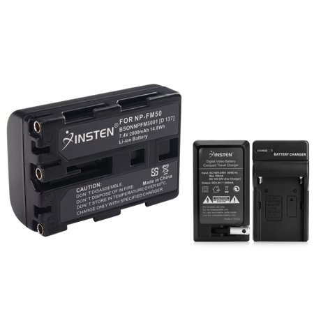 Insten 2X Battery + Charger for Sony NP-FM50 NP-FM30 DSC-S30 DSC-S85 DSC-F707 (Sony Np Fm50 Equivalent Battery)