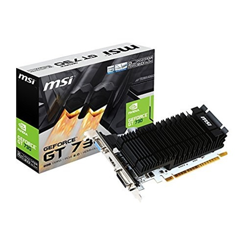 MSI - N730K-2GD3H/LP - MSI N730K-2GD3H/LP GeForce GT 730 Graphic Card - 902 MHz Core - 2 GB DDR3 SDRAM - PCI Express 2.0
