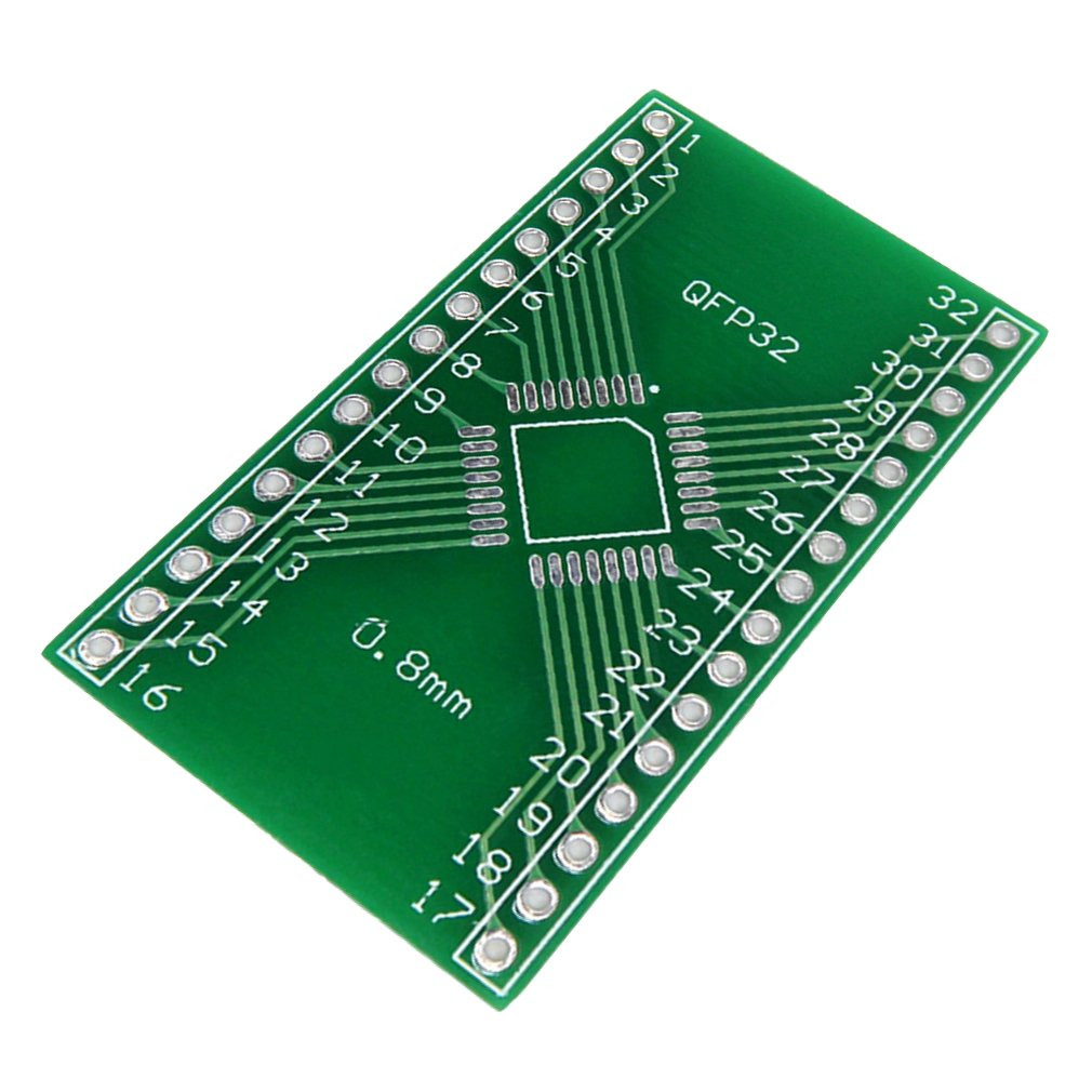1pc QFP32 to DIP 32 Pinboard SMD Adapter to DIP 0.8mm Pin Pitch