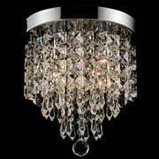 Viribus 3-Light Pendant Ceiling Lamp Crystal Ball Fixture Light Chandelier Flush Mount Lighting