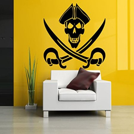 Wall Room Decor Art Vinyl Sticker Mural Decal Pirate Flag Monster ...