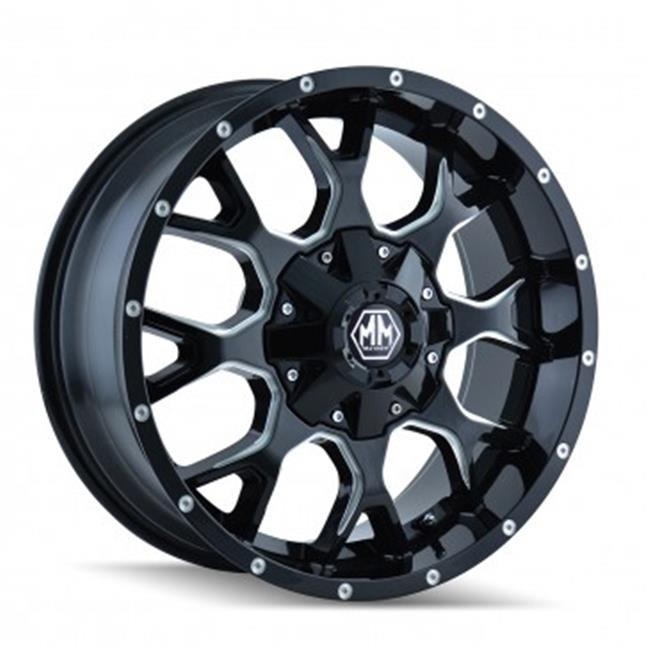 Mayhem 8015-2952M 5-127, 5-139.7 PCD Warrior Black Milled Spokes Wheel - image 1 of 1