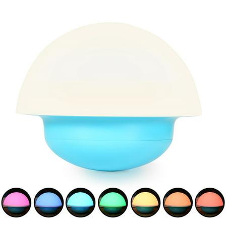 Led Baby Night Light Portable Silicone Cute Mushroom