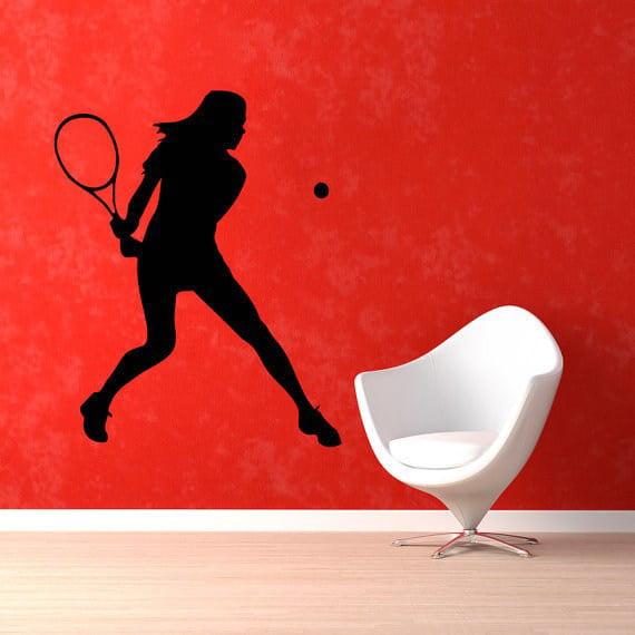 Stickalz llc tennis player sport girl room wall decor vinyl