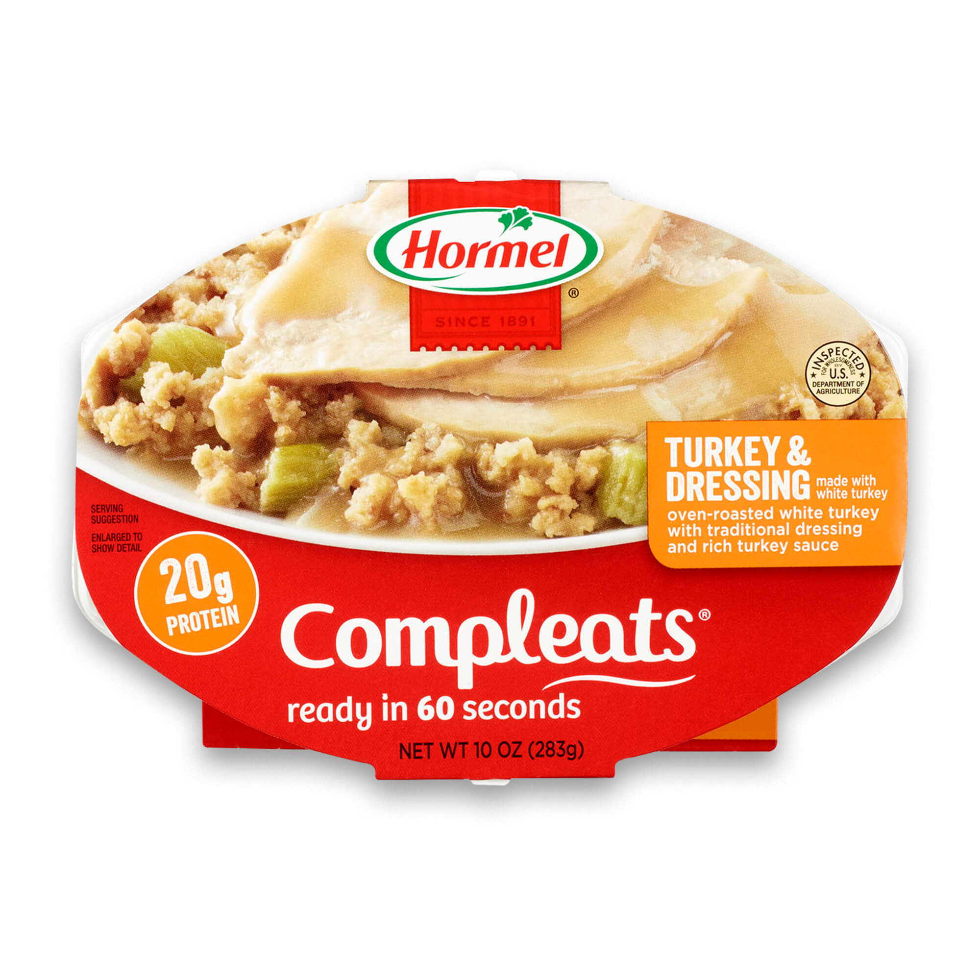 (3 Pack) Hormel Compleats Turkey & Dressing, 10 Ounce