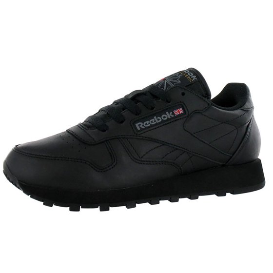 Reebok - Reebok 116  Men s Classic Leather Black Sneaker - Walmart.com 3d9b31bf8