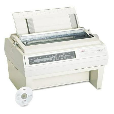 OKI OKI61800801 Dot Matrix Printer, Blk/Wht,27inHx23inW G0546640