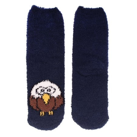 Women's 1 Pair Super Soft Cute Fuzzy Cozy Warm Animal Face Indoor Outdoor Cabin Crew Home Socks, Eagle The North Face Womens Socks