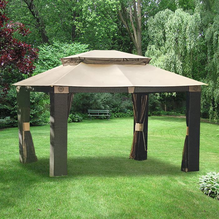 Garden Winds Replacement Canopy Top for Antigua Gazebo - Riplock 350