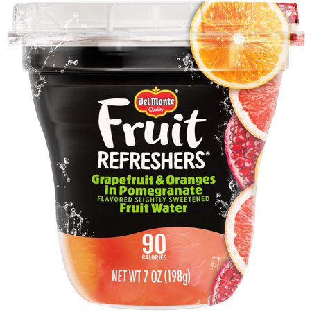 Del Monte 2004775 Grapefruit And Oranges In Pomegranate Fruit Water Delmonte Fruit Refreshers 12/7oz Plastic Cups
