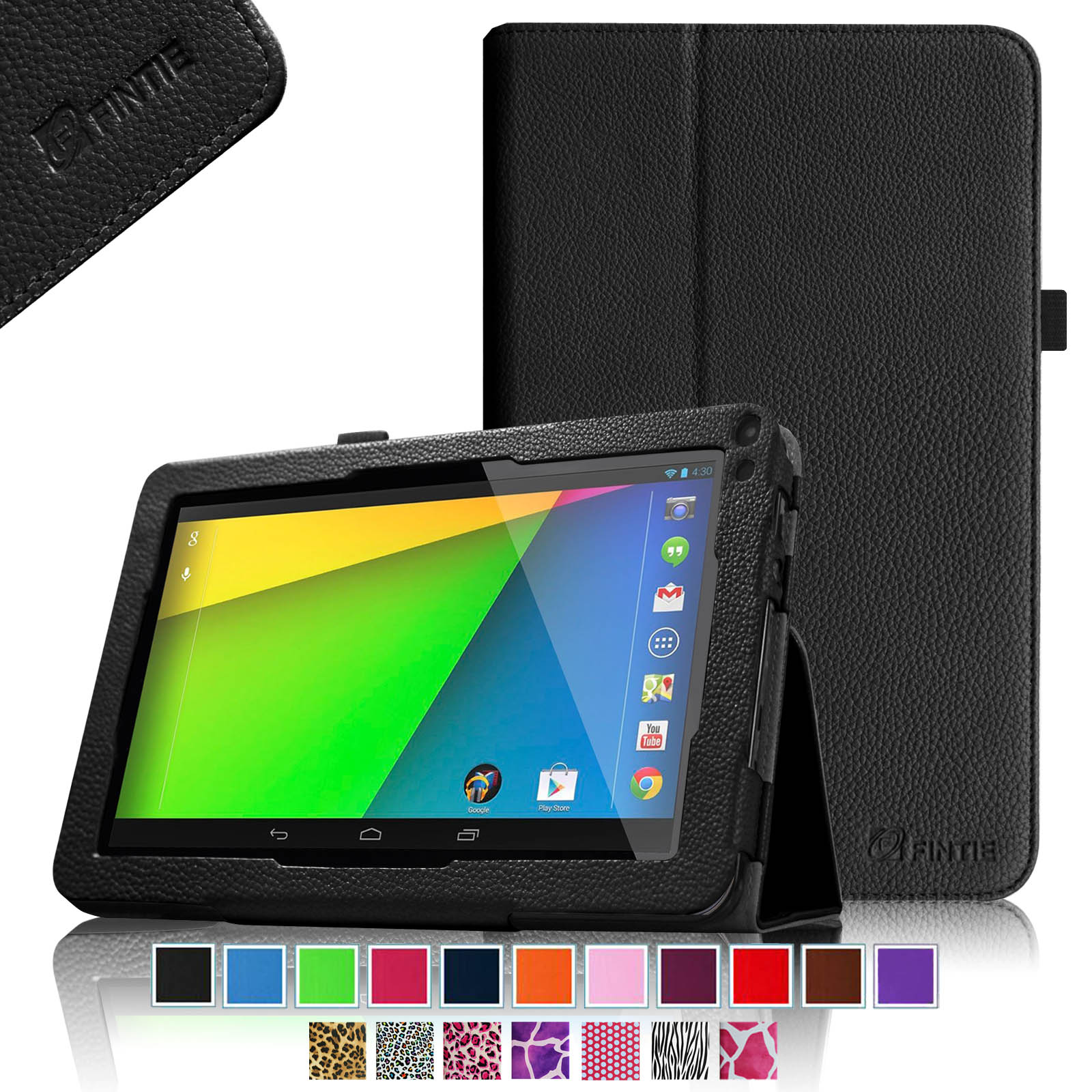 "RCA 9"" Tablet Case - Fintie Premium Leather Cover with Stylus Holder for RCA 9"" Tablet (Model# RCT6691W3), Black"
