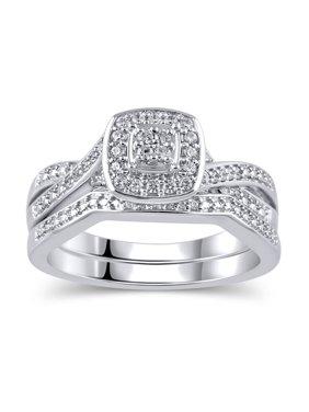 64f7ef45942 Product Image 1 5 Carat T.W. Diamond Sterling Silver Rhodium-Plated Bridal  Set