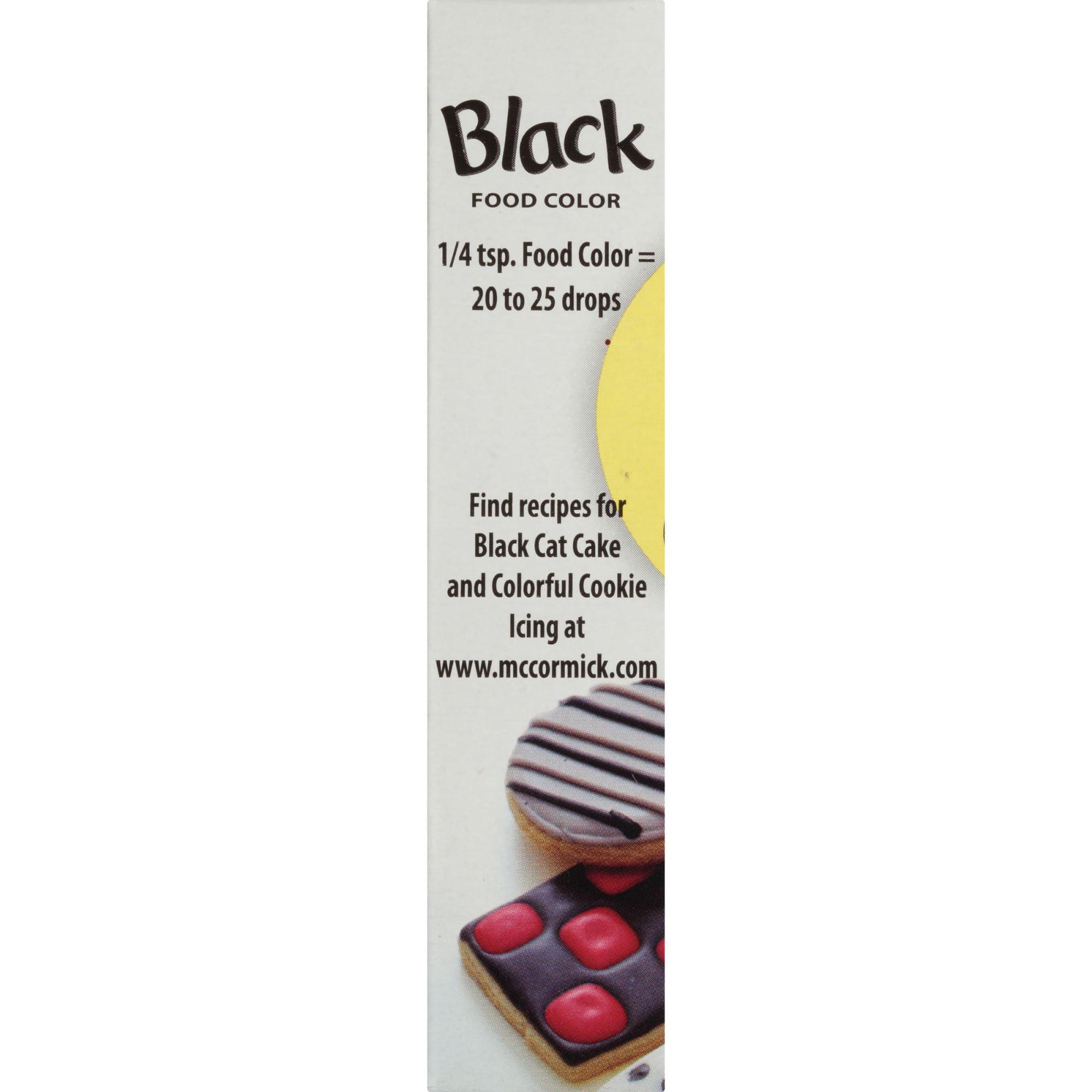 McCormick Black Food Color, 1 fl oz - Walmart.com