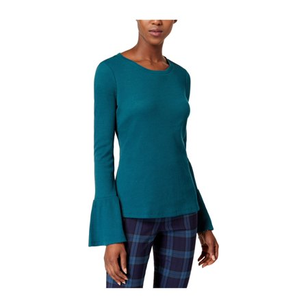 maison jules womens thermal-knit basic (Green Clear Front Thermal)