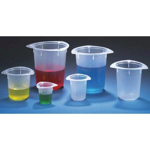 GLOBE SCIENTIFIC Beaker,Polypropylene,100mL,PK100, 3641