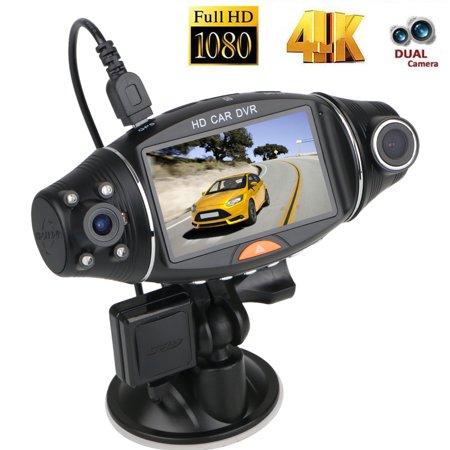 TSV Dual Lens Dash Cam Night Vision Dual 1080P Front and Cabin Dash Camera 2.7