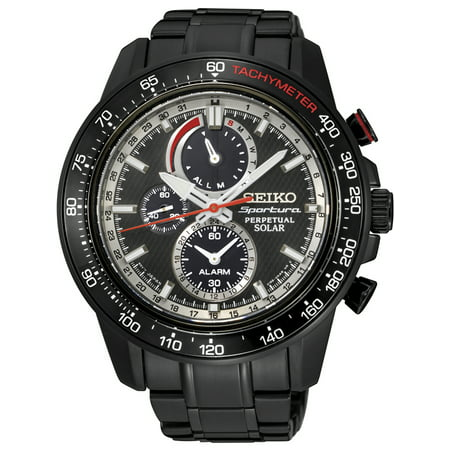 SSC373P1,Men's Sportura Solar,Chronograph,Sport Style,Stainless Steel Case and bracelet,Sapphire,100m WR,SSC373 ()