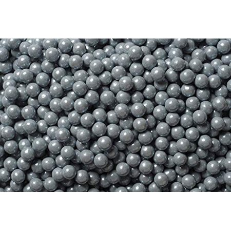 National Cake Supply Shimmer Silver Edible Candy Pearls - 4 oz National Silver Four