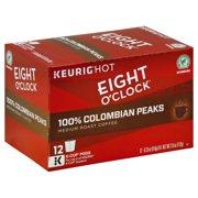 Eight O'Clock Coffee K-Cups, Medium Roast, 12 Count