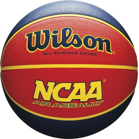 Wilson NCAA Air Assault 28.5 Basketball, Red/Blue
