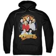 Trevco Cheers-Group Shot - Adult Pull-Over Hoodie - Black, Extra Large