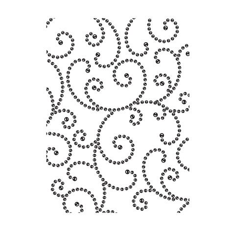 Embossing Folder Gem Swirl Bkgrnd 4.25X5.75 By Darice