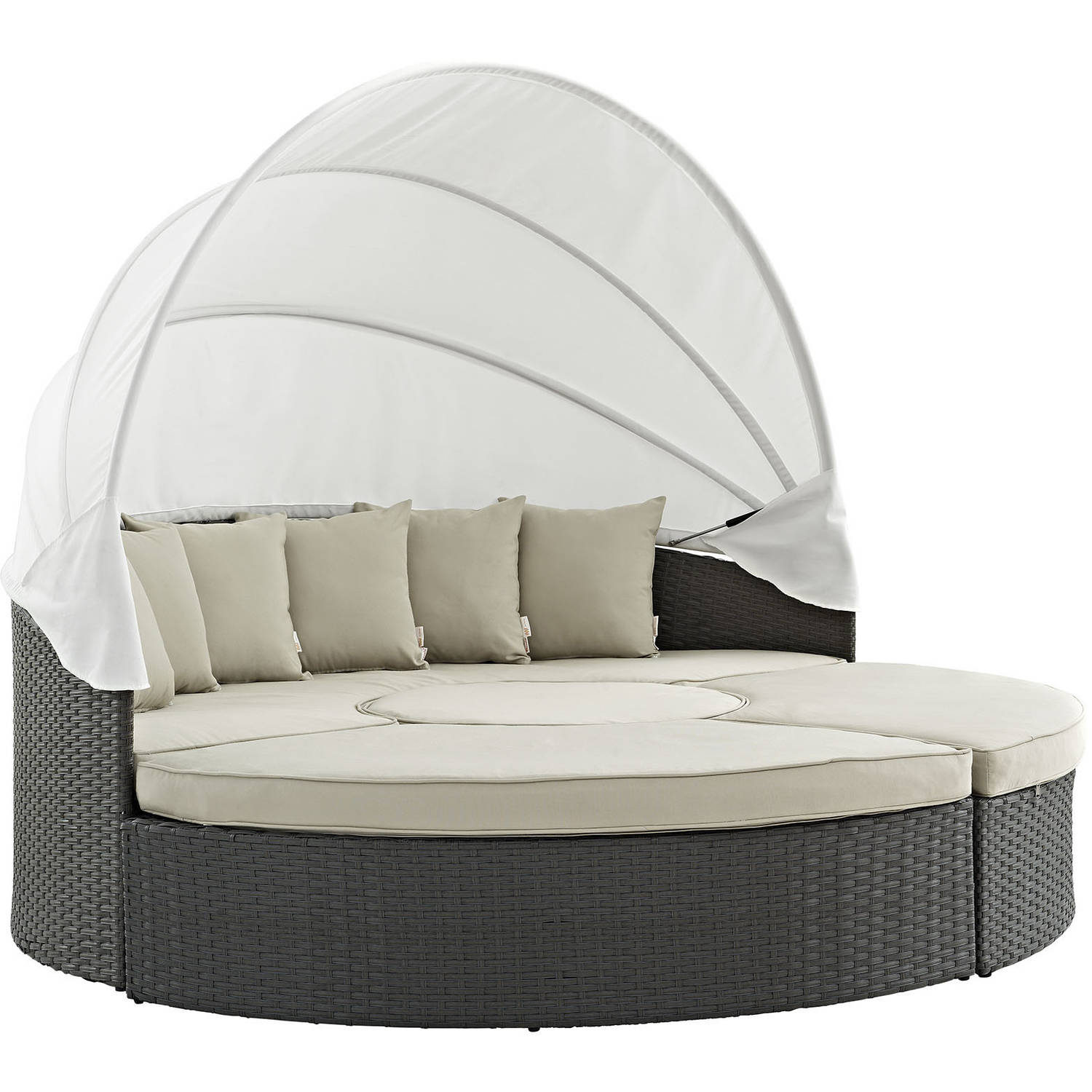 Modway Sojourn Outdoor Patio Sunbrella Canopy Daybed Multiple Colors  sc 1 st  Walmart : canopy day bed - memphite.com
