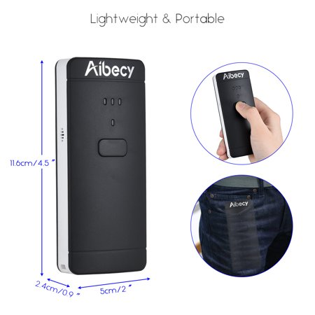 Aibecy P2000 Portable Mini Wireless USB Wired 1D 2D Image Barcode Scanner  QR PDF417 Bar Code Reader 130,000 Inventory Memory Multi-Language for