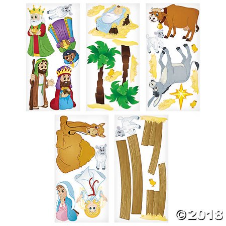 Design-A-Room Nativity Animals Backdrop Set (Nativity Animals)