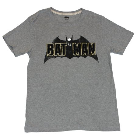 60s Mens Clothes (Batman (DC Comics) Mens T-Shirt - 60s Style Embrodried Patch Image (Medium,)