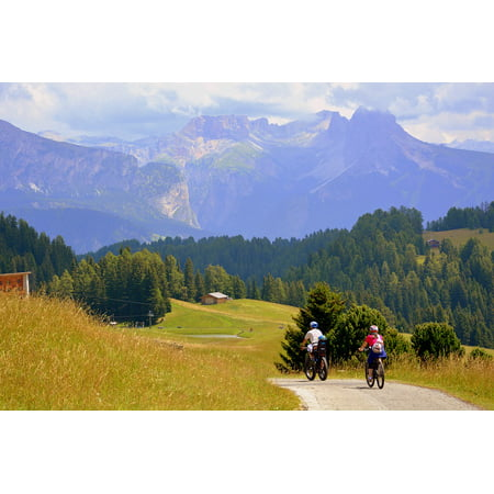 LAMINATED POSTER Bicycle Cycling Bike Pedal Sport Mountain Road Poster Print 24 x