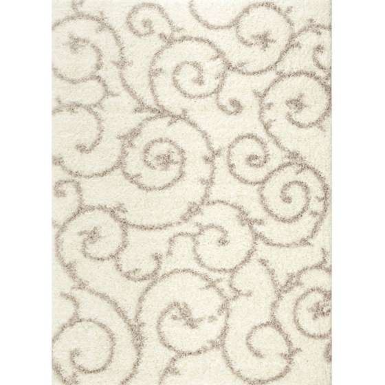 World Rug Gallery Florida Turquoise Area Rug Reviews: World Rug Gallery Soft Cozy Contemporary Scroll Indoor